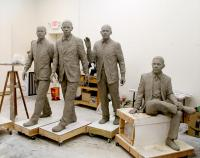 Clay molds of the sculptures at Cherrylion Studios.